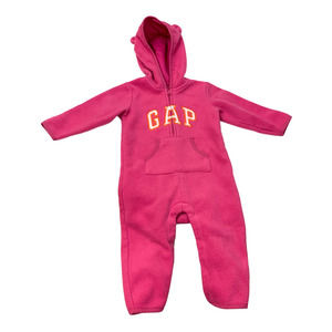Baby Gap Pink Fleece Logo Bunting Snowsuit 12-18